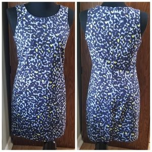 Sleeveless Fully Lined Animal Print Sheath Dress